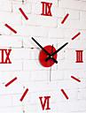 DIY Fashion Wall Kombination av romerska siffror Klocka Vit / Svart / Röd Fun Väggklocka