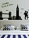 vägg klistermärken väggdekaler romantik london bridge dekorativa lysande klistermärke