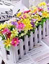 Gren Polyester / Plast Prästkragar Bordsblomma Konstgjorda blommor 30 x 14 x 8 (11.8'' x 6'' x 3.1'')