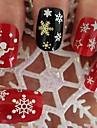noël conception des flocons de neige Pattem assortis 3d art des ongles autocollants autocollants