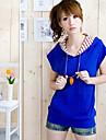 buzunare elegante capișon decorate tricou albastru safir