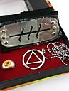 Smycken / Huvudbonad Inspirerad av Naruto Cosplay Animé Cosplay Accessoarer Headband / Halsband / Ring Silver Legering Man