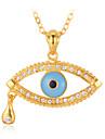 söt ängel riva onda ögon tur hängsmycke halsband 18K guldpläterad österrikisk rhinestone kristaller