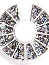 blandade storlekar tydliga ovala nagel kristall akryl strass glittrig falsk diamant för nageldesign