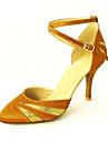purpurina brillante y personalizado de terciopelo latino / salón de baile zapatos de baile de rendimiento para las mujeres