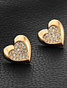 InStyle 18k chunky guldpläterad heat stud swa strass kristall örhängen gåva för kvinnor av hög kvalitet