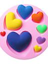 hjärtformade bakning fondant tårta choclate godis mögel, l7.8cm * w7.8cm * h1.2cm