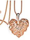 viva kvinnors populära kristall hallow hjärta långt halsband