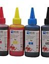 Bloom colorant encre compatible 100ml de recharge d'encre pour HP Tout d'imprimante à jet d'encre pour HP dédié CISS (4 couleurs 1 lot)