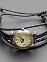 pentru Doamne Ceas La Modă Ceas Brățară Japoneză Quartz Piele Autentică Bandă Vintage Boem Negru Khaki Negru Kaki