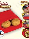 neuf de haute qualité pratique poche de vapeur facile de sac de micro-ondes lavable rouge de pomme de terre rapide de pomme de terre cuire au 4