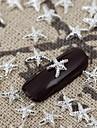 50pcs argent métallique conseils étoile brillante nail art des bijoux en alliage à ongles vernis décorations de manucure