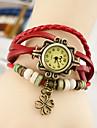 Wanbao kvinnors vintage blad hängande armband klocka