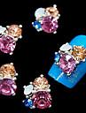 10st glitter 3d strass blomma diy legering tillbehör nail art dekoration