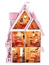grande villa de rêve bricolage maison de poupée en bois, y compris tous les meubles