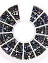 blandade storlekar svkonst ab nagel konst kristall akryl strass glittrig spik smycken för diy nageldesign