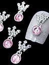 10pcs rose couronne pendentif en strass 3d accessoires en alliage de bricolage Nail Art Décoration