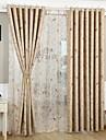 Två paneler Fönster Behandling Rustik Nyklassisistisk Europeisk Modern Medelhavet Vardagsrum Polyester MaterialMörkläggning Gardiner