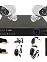 twvision® 4ch canal 960H HDMI DVR CCTV 2x 800tvl extérieure système de caméra de sécurité