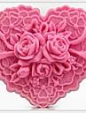 coeur fleurs en forme outils de bricolage gâteau de chocolat fondant silicone moule à cake de décoration, l8.5cm * * w7.6cm h4cm