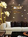 Botanique Floral Stickers muraux Autocollants avion Autocollants muraux décoratifs Matériel Repositionable Décoration d'intérieurCalque