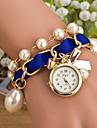 Wanbao kvinnors eleganta pärla armband klocka