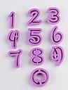 plastic frumos 0-9 număr digitale de cookie tăiat mucegai 10 bucati / lot, dimensiune unică 4.8x3.6x1.2cm
