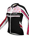 SANTIC® Maillot de Cyclisme Femme Manches longues VéloRespirable / Garder au chaud / Pare-vent / Design Anatomique / Résistant aux