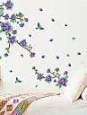 väggdekorationer Väggdekaler, naturliga lila plommon blossom pvc väggdekorationer