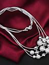 uyuan kvinnors 925silver delikatess silver prydnad halsband