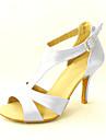 Kundanpassade Kvinnors Satin T-Strap Latin / Ballroom Dance Shoes (Fler färger)