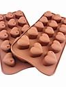 15 håls hjärta form kaka is gelé choklad formar, silikon 21 × 10,5 × 2,5 cm (8,3 × 4,1 × 1.0inch)