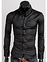 Chemises informelles ( Coton mélangé ) Informel Col chemise à Manches longues
