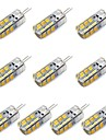 3W G4 LED-lampa T 24 SMD 2835 260 lm Varmvit / Kallvit Dekorativ DC 12 V 10 st