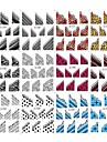 12sheets / väska 2d franska falska konstnagel tips klistermärken med olika mönster blandat