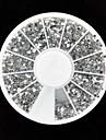 3600pcs silver akryl strass nail art dekorationer (2mm)