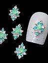 10st grön strass legering för diy fingertoppar designen nagel konst dekoration