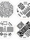 Faveur de la dentelle la plaque 1pc nouveaux ongles estampage images plaques fashionistas pour ongles diy art décorations (motif assortis)