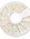 mixed-size halvcirkel vit pärla nagel konst dekorationer
