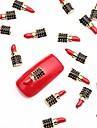 10pcs ongles rouge alliage de l'art tranche métallique ongles noir bijoux de conception de manucure lundi thème de clous quotidiens