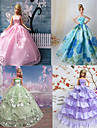 Princesse Robes Pour Poupée Barbie Violet / Bleu Robes Pour Fille de Doll Toy