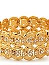 InStyle stora lyxiga kvinnors armband 18k guld platina armring swa österrikiska strass för kvinnor av hög kvalitet