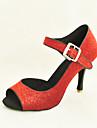 Chaussures de danse (Noir/Rouge/Bleu/Argent/Or/Vert) - Personnalisable Paillettes scintillantes - Danse latine/Salle de bal