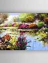 HANDMÅLAD Abstrakt En panel Kanvas Hang målad oljemålning For Hem-dekoration