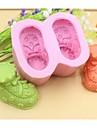 pantofi pentru copii în formă de instrumente de decor din silicon de ciocolată tort fondant mucegai tort, l8.5cm * w7.2cm * h4.5cm
