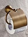 Toalettpappershållare Antik mässing Väggmonterad 130*119mm(5.11*4.68inch) Mässing Antik