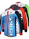Arsuxeo® Cykeltröja Herr Lång ärm Cykel Andningsfunktion / Snabb tork / Anatomisk design / Dragkedja fram Tröja / Överdelar 100% Polyester