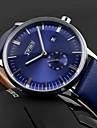 SKMEI Bărbați Ceas de Mână Calendar Rezistent la Apă Quartz Quartz Japonez Piele Bandă Negru Albastru Maro