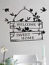 autocolante de perete decalcomanii de perete, bun venit acasă cuvinte în limba engleză& citate autocolante de perete din PVC