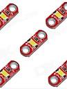 hzled 5v 40mA 3000k 400-500mcd chaude mini-3000k blanc LED Module - rouge (5 pièces)